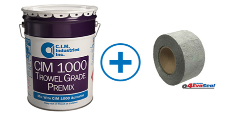 CIM Industries 1000 + 4EvaSeal Combination for more complex gutter repairs